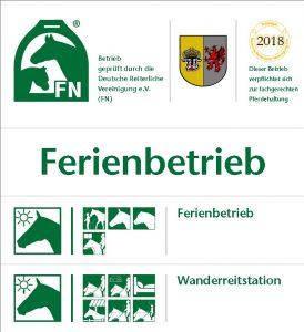Logo der FN Kennzeichnung zum anerkannten Ferienbetrieb